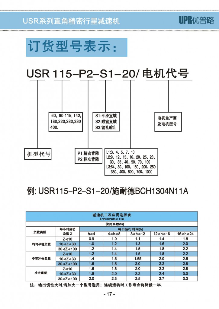 USR-2精密行星减速机